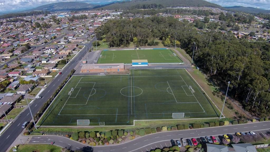 Devonport Soccer Centre aerial shot