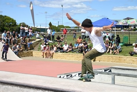 A concrete skate park for the youth of Devonport