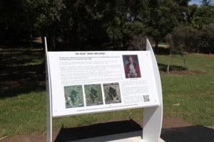 Mary Bink Wetlands Interpretation board