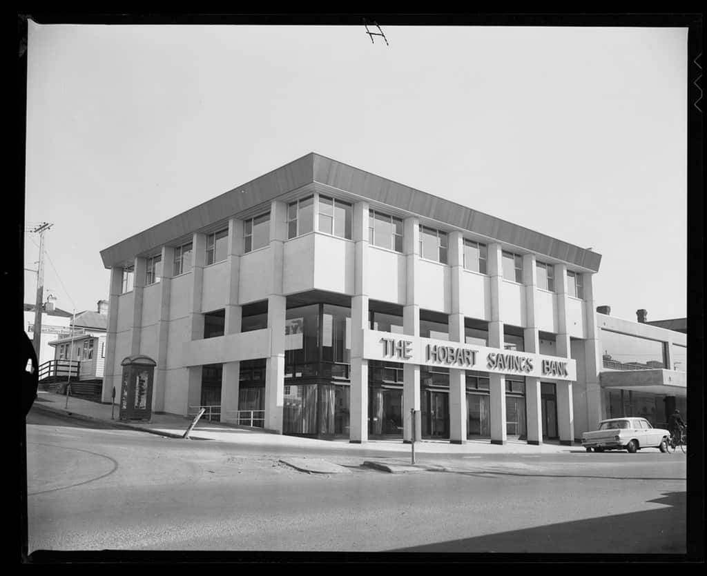 The Robinson Collection, DCC Permanent Collection Hobart Savings Bank, corner of Steele Street and Rooke Street 1971 Devonport