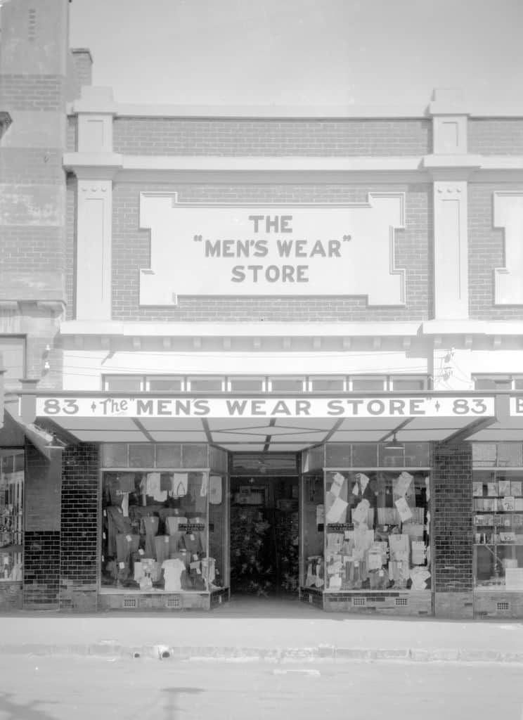 The Robinson Collection, DCC Permanent Collection The Mens Wear Store, Rooke Street Owned and operated by AJ Crew  1933 Devonport