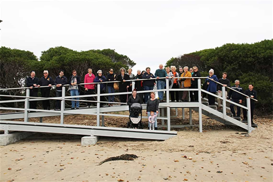 All abilities beach access ramp at East Devonport opened
