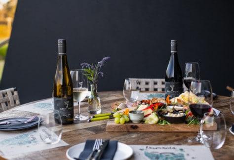 Ghost Rock Vineyard wines and platters