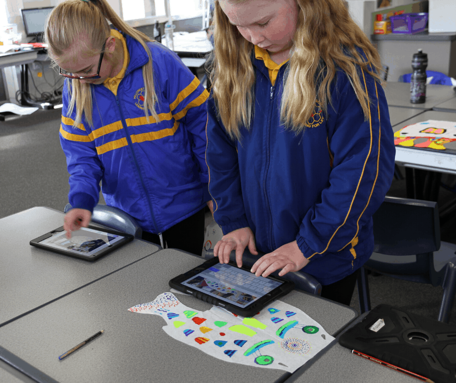 Devonport Students document the making of their Koinobori