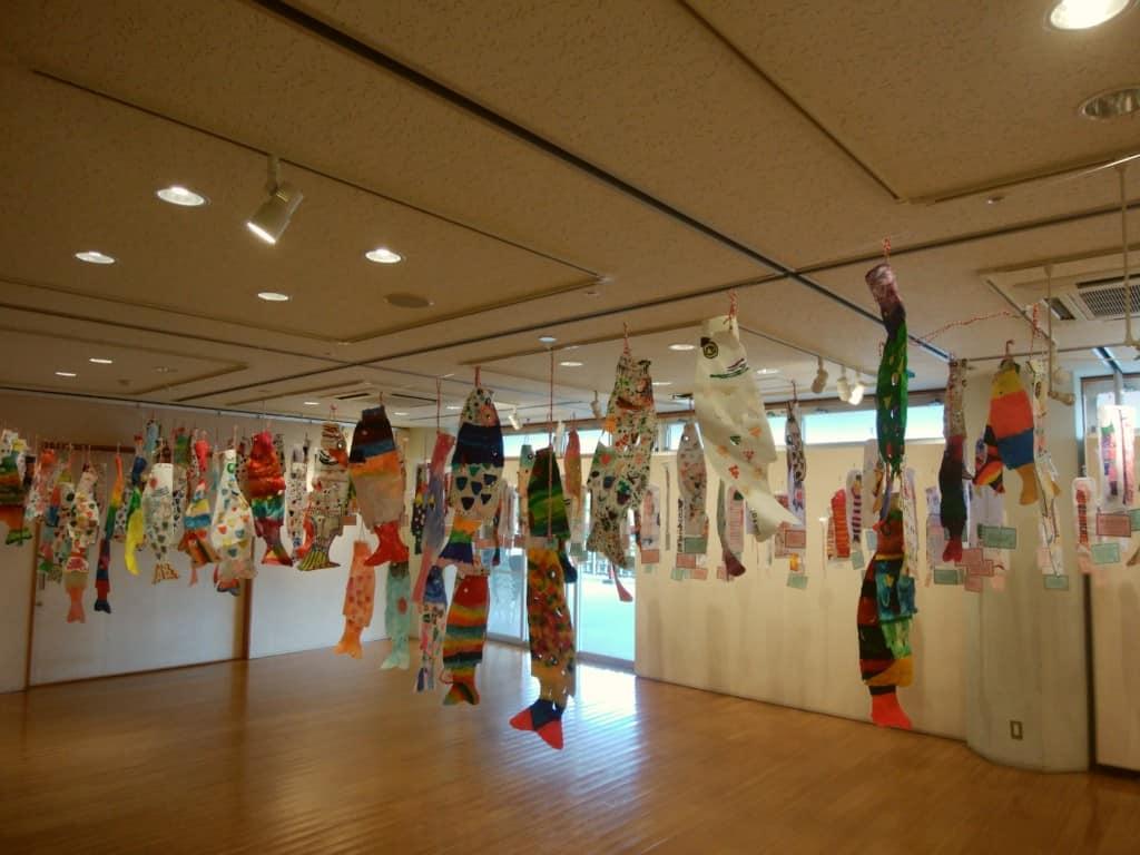 Koinobori on display in Minamata 2