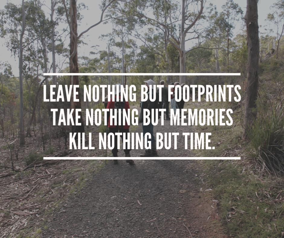 Leave nothing but Footprints Kelcey Tier