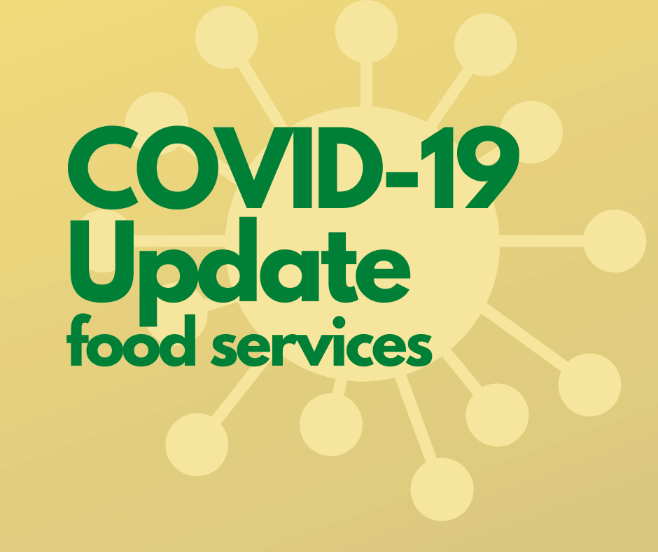 COVID-19 Update food support services