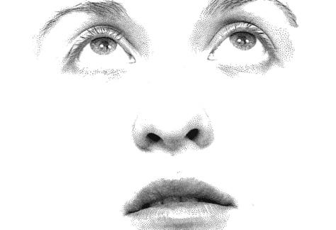 A Stippled face
