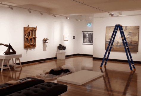 Exhibition: Recent Acquisitions being installed