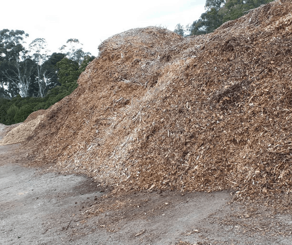 Woodchips Spreyton Waste Transfer Station FB
