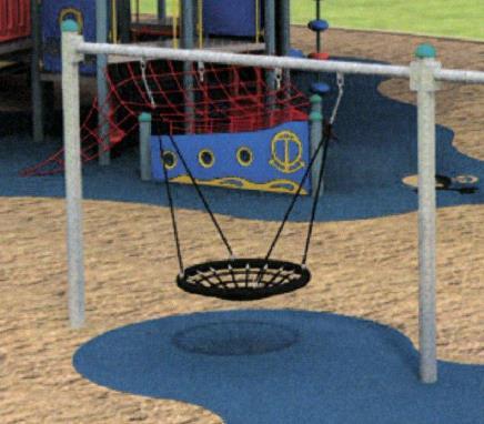 ECM 34792 v1 E000007 Big Leg Frame with Bird Nest Swing jpg