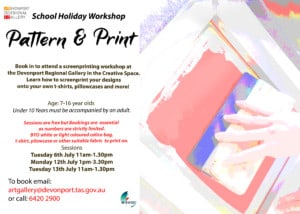 Flyer for screenprinting workshop with our pic