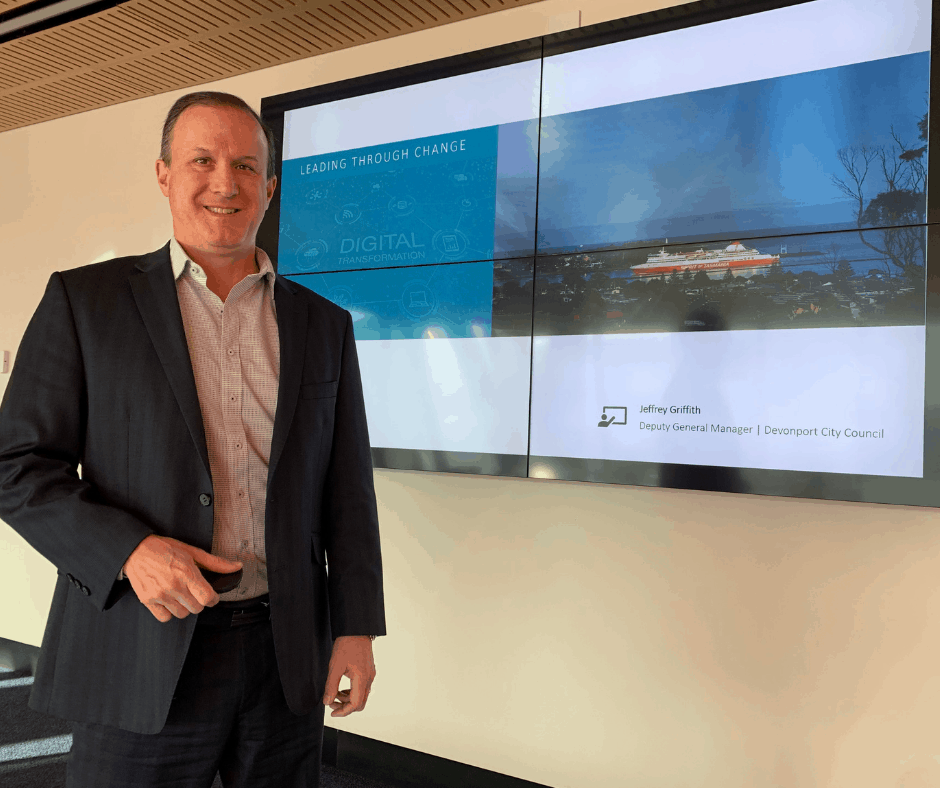 Devonport City Council Deputy General Manager Jeffery Griffith was awarded the Innovative Management Initiative Award at yesterday's Tasmanian Local Government Professionals Awards in Launceston.