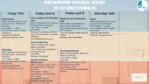 Seniors Week 2021 Calendar Page 4