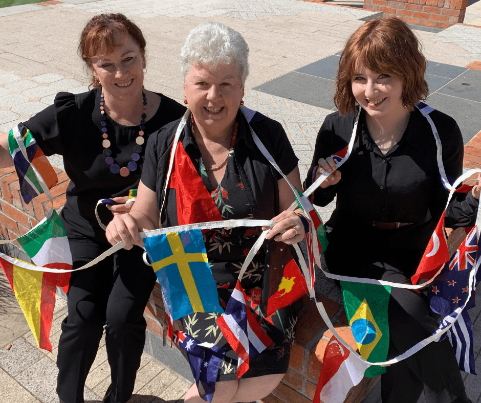 Gearing up for this year's New Year's Eve community event titled Around the World are Devonport Mayor Annette Rockliff with Devonport City Council's Community Services Manager Karen Hampton (left) and Events Administration Officer Eleanor McCormack.