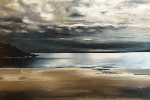 A moody monotone oil painting of the Bluff by Spreyton-based artist Mary Wilson has won the tidal.20: City of Devonport Tasmanian Art Award's People's Choice prize.